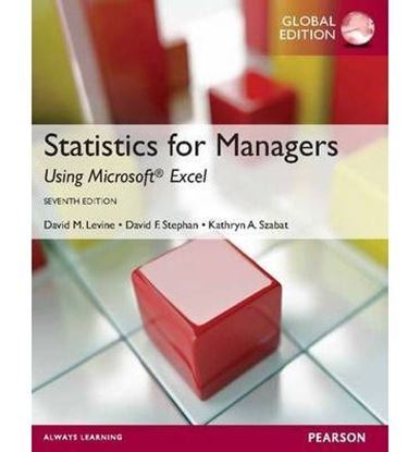 Εικόνα της Statistics for Managers Using MS Excel